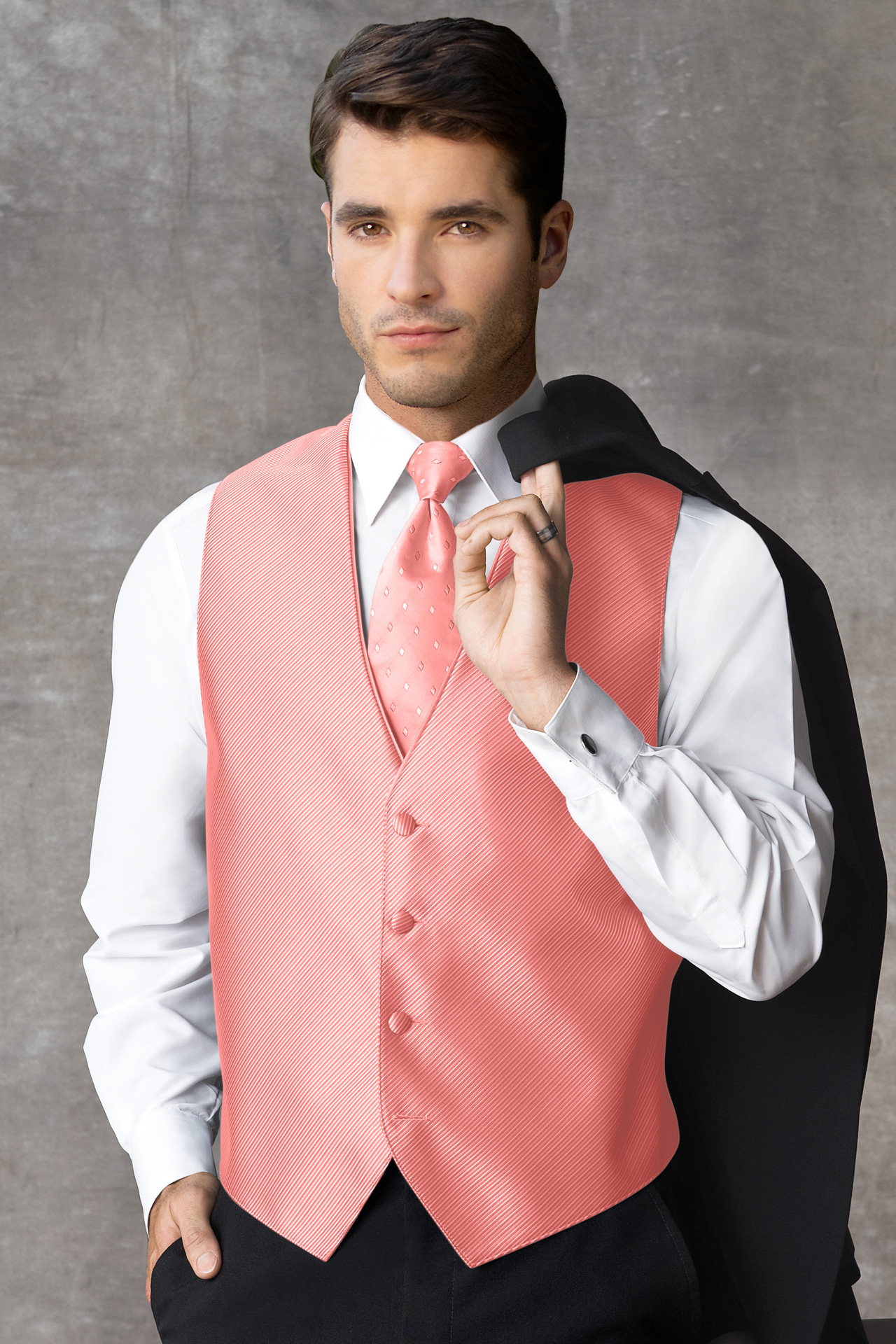 synergy coral vest jims formal wear