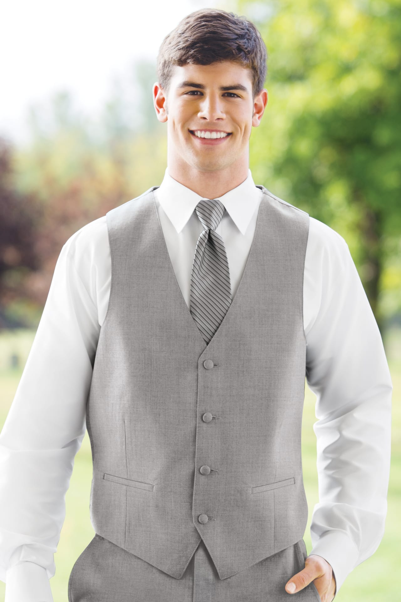 Aspen Heather Grey Vest Jim S Formal Wear