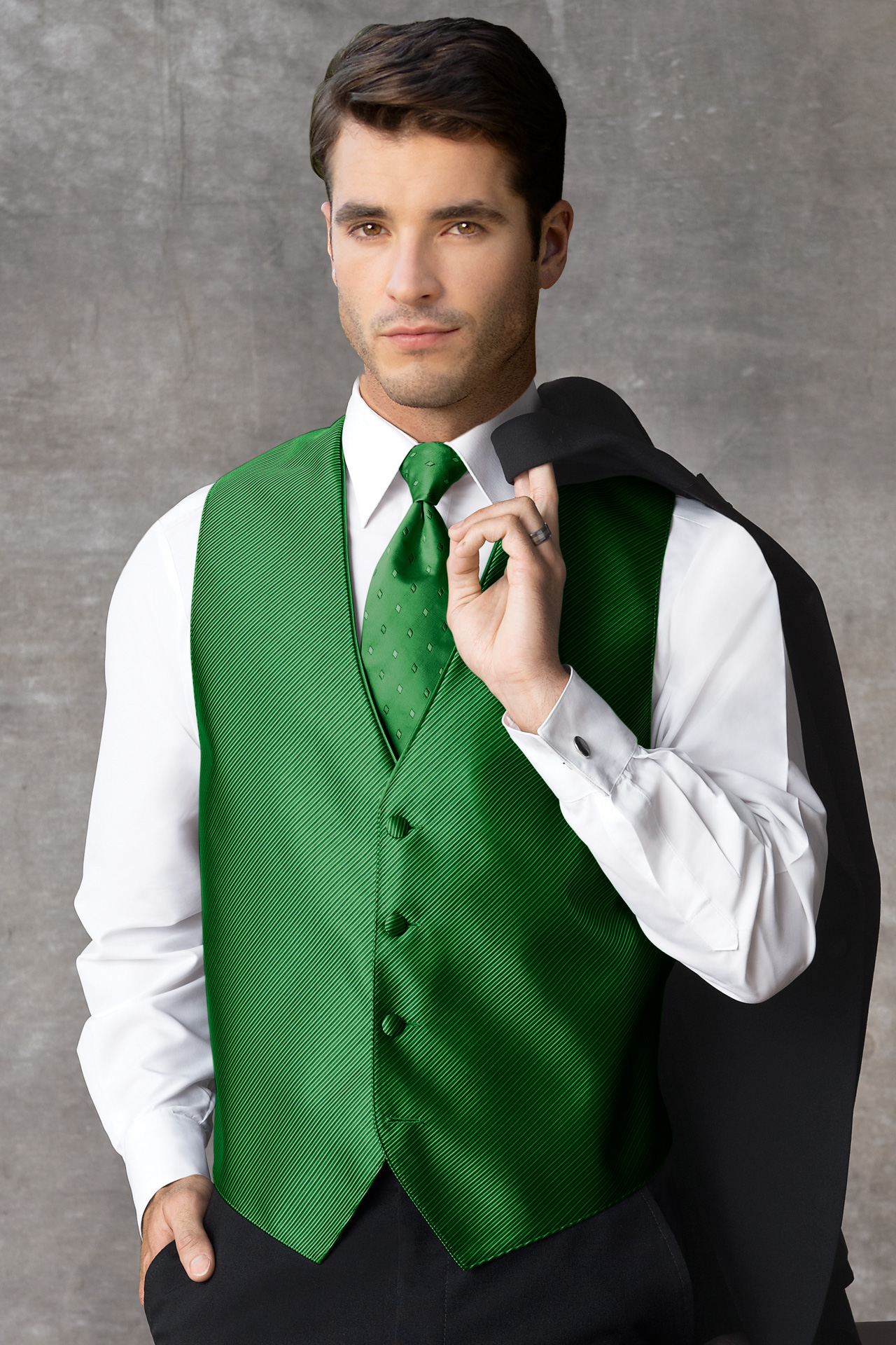 Synergy Kelly Green Vest Jims Formal Wear