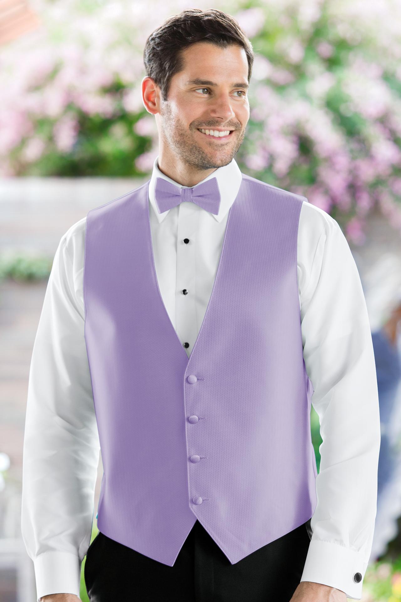 Herringbone Lavender Vest | Jim's Formal Wear