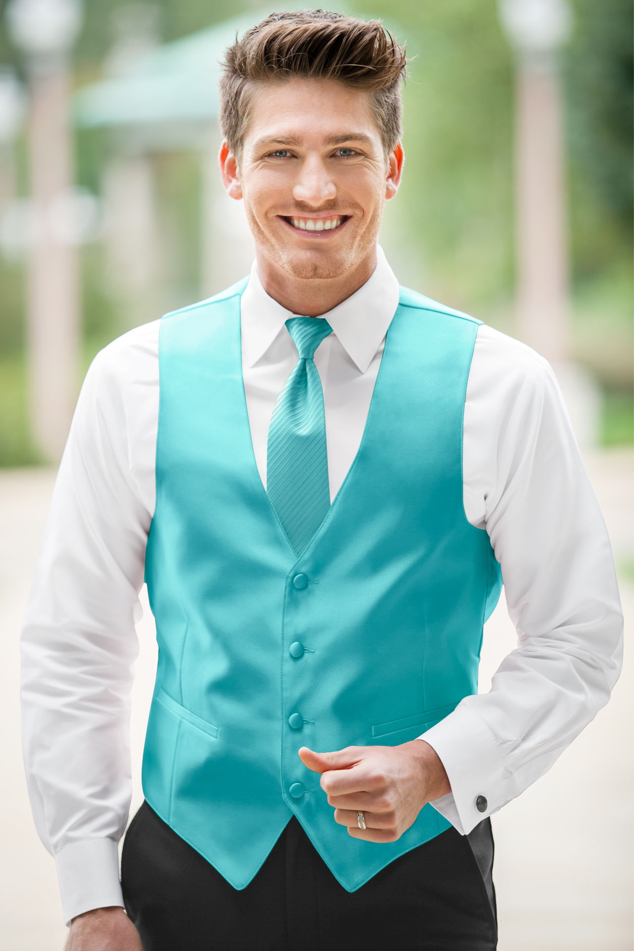 Expressions Turquoise Vest Jim S Formal Wear