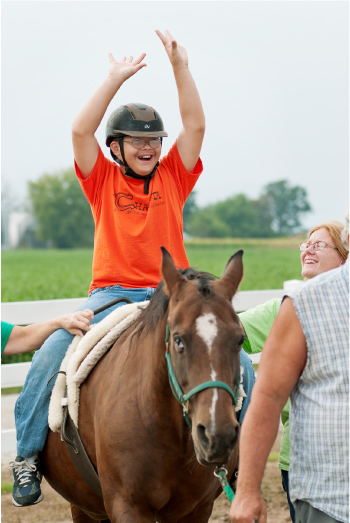 Therapy at the Chakota Therapeutic Riding Center