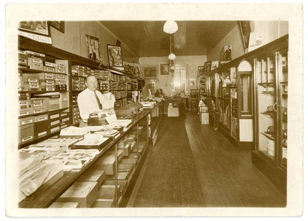 The Davis Family Clothing Store, Trenton, Illinois, circa 1920's