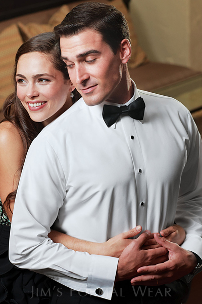 microfiber shirt, fitted, tuxedo shirt