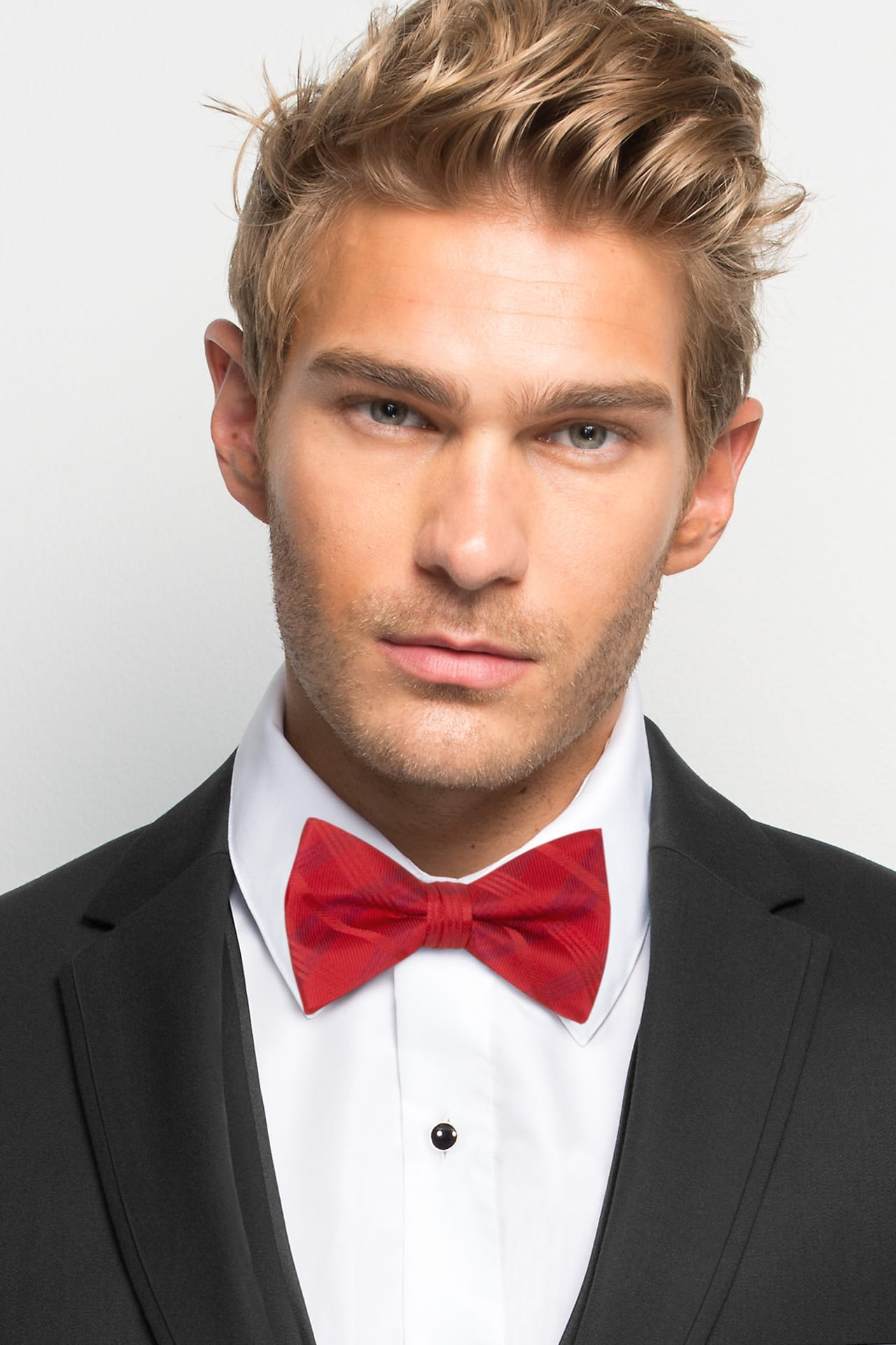 Ruby Red Plaid Bow Tie Jim S Formal Wear