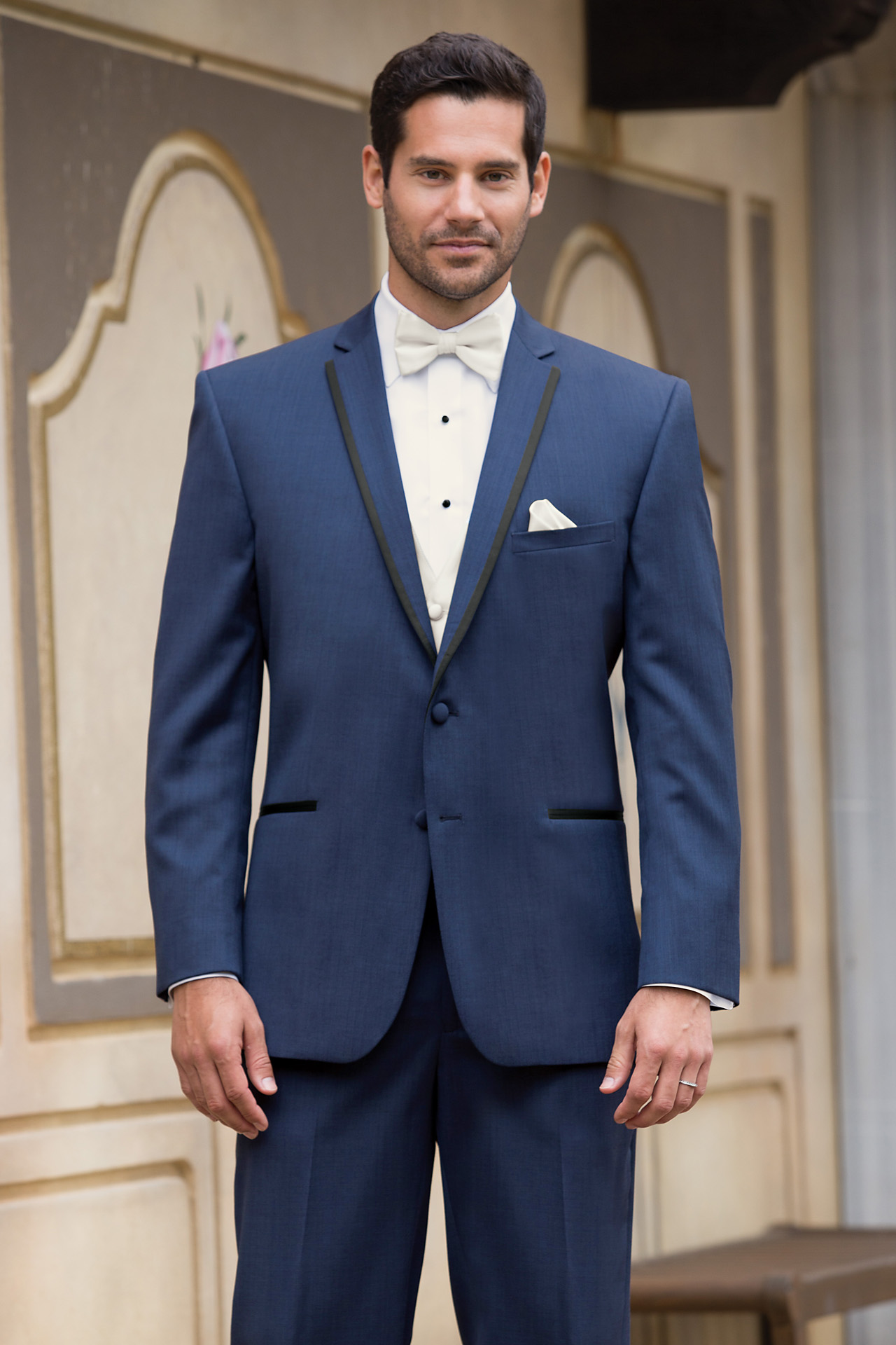 Stephen Geoffrey Slate Blue Aspen Slim Fit Tuxedo Jim S