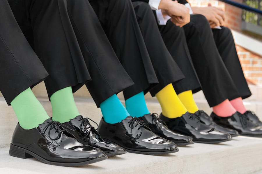 Colored Socks for Tuxedo and Suit Rentals - The Ultimate Guide To Men's Formal Sock Fashion Jim's Formal Wear