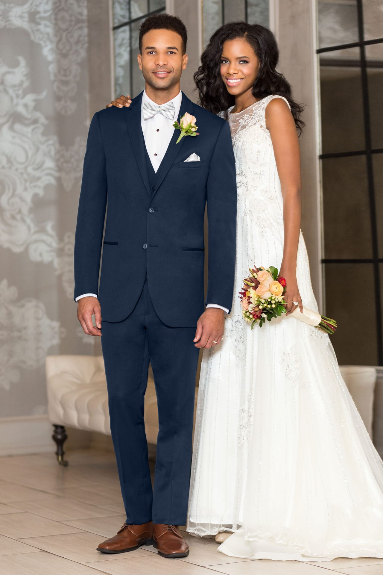 Michael Kors Ultra Slim Navy Sterling Wedding Suit Ultra