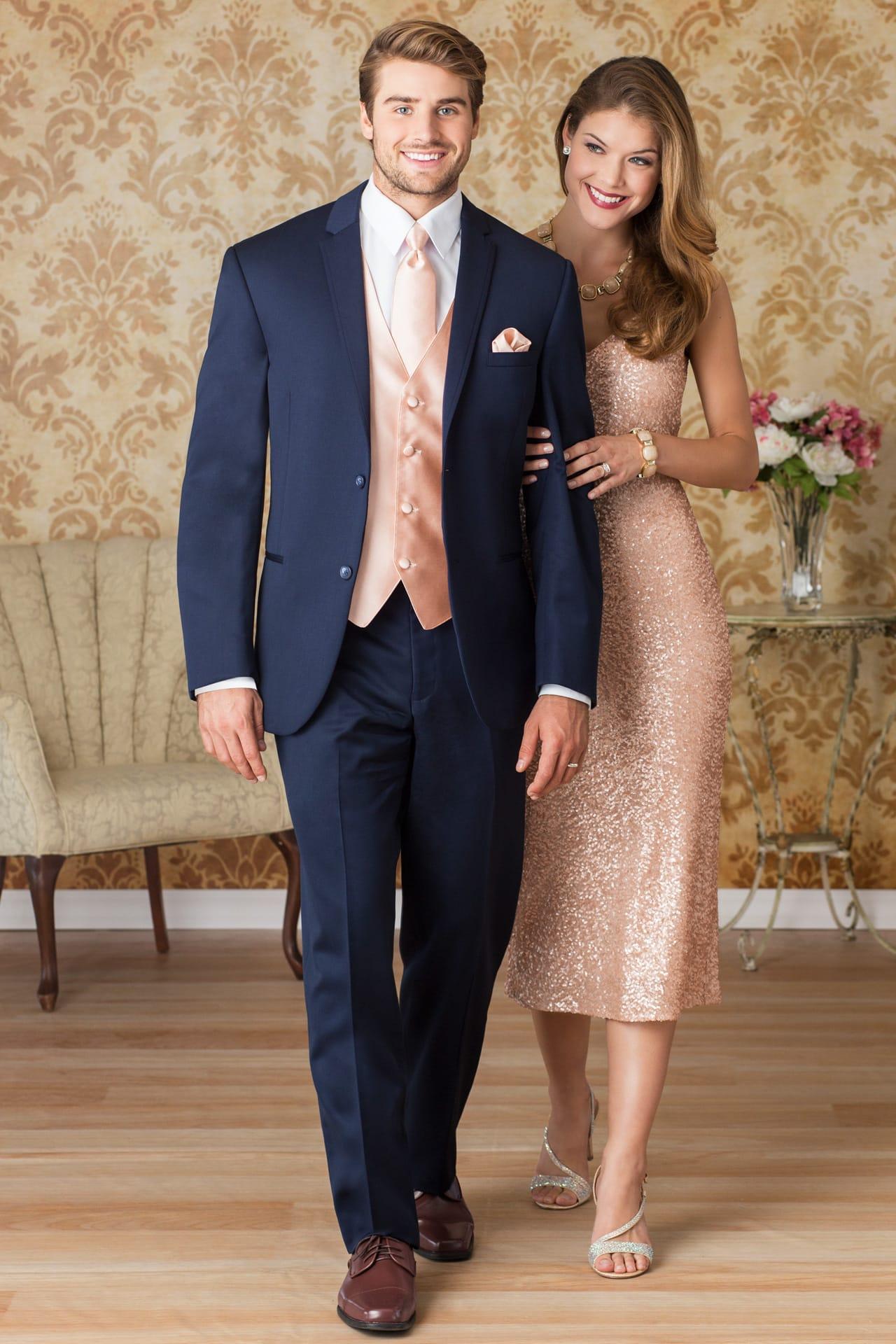 Michael Kors Navy Sterling Wedding Suit Slim Fit Suit