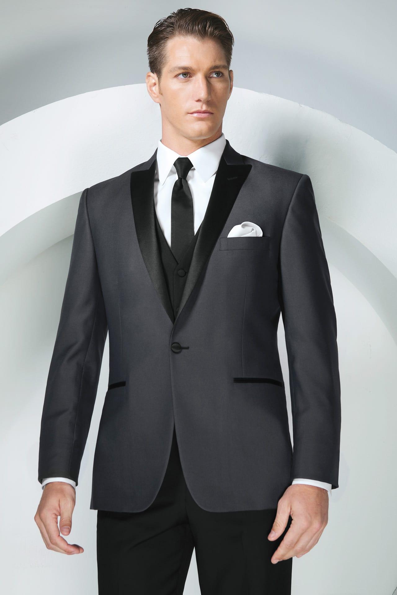 Tony bowls grey portofino slim fit tuxedo jim 39 s formal wear for The tux builder