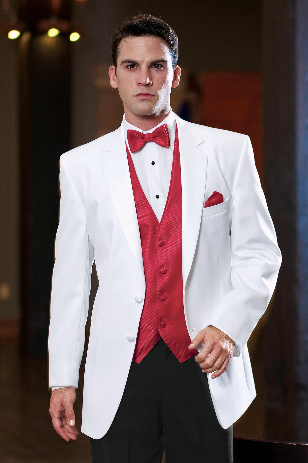 Stephen Geoffrey White Troy Modern Fit Tuxedo